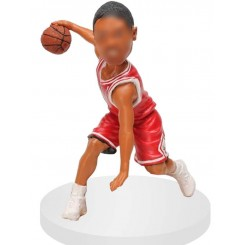 between the legs dribbling personalized bobblehead doll