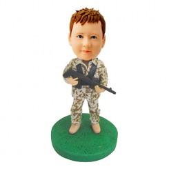 army personalised kid bobblehead
