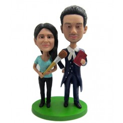artist couple personalised bobblehead