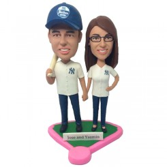 custom baseball couple bobbleheads ca