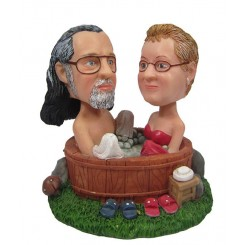 custom bathing couples bobblehead