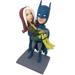 custom batman couple bobbleheads