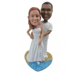 custom beach wedding cake topper