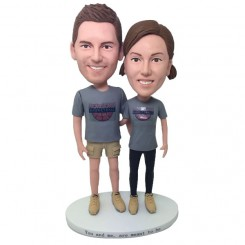 custom casual couple bobbleheads