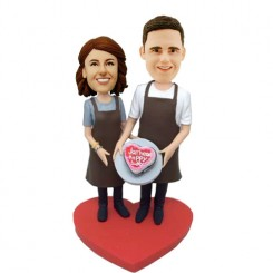 custom cooking couple birthday bobblehead