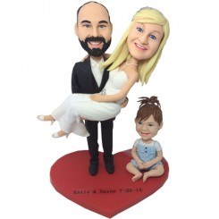custom family wedding bobbleheads