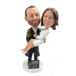 custom filming wedding bobblehead