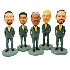 custom five groomsmen bobblehead