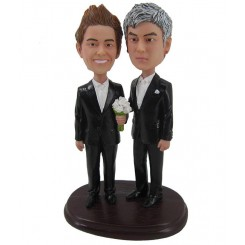 custom gay wedding two men bobblehead