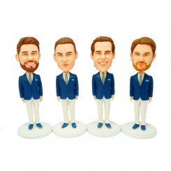 custom groomsmen bobble head 4 items