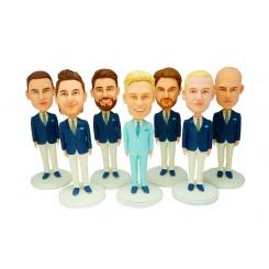 custom groomsmen bobble heads 7 items