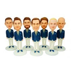 custom groomsmen bobblehead 7 items