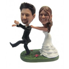 custom happy wedding bobbleheads