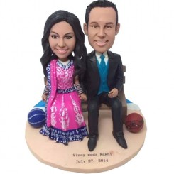 custom indian theme basketball couple bobbleheads