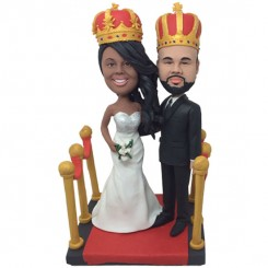 custom king and queen custom bobble heads