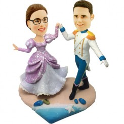 custom prince and priceness wedding bobbleheads