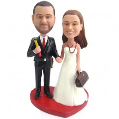 custom repairman and doctor wedding bobblehead