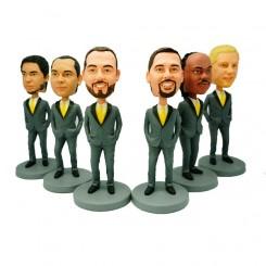 custom six groomsmen bobbleheads