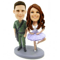custom soldiers and dancer bobblehead