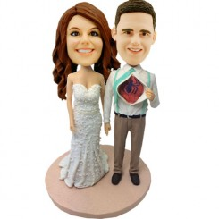 custom spider man wedding bobbleheads
