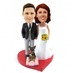 custom wedding bobblehead cake topper