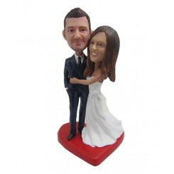 custom wedding cake topper bobble head