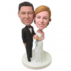 custom wedding cake topper bobble head