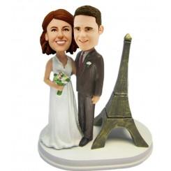 custom wedding cake topper eiffel tower theme
