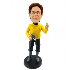 custom worker with a drill bobblehead
