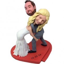custom wrestling couple wedding cake topper