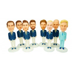 customised groomsmen bobble heads 8 items