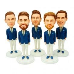 customised groomsmen bobblehead 5 items