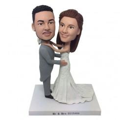 customised wedding bobble heads