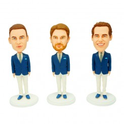 customized groomsmen bobble heads 3 items