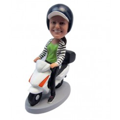 customized scooter female bobblehead