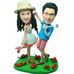 dancing couple personalised bobblehead