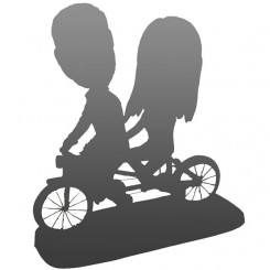 fully custom couple cyclists bobleheads