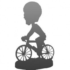 fully custom cyclist bobblehead