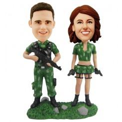 personalised commando couples bobblehead