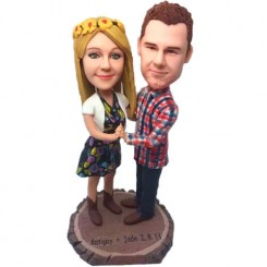 personalised dancing couple custom bobbleheads