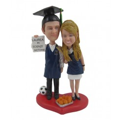 personalised graduating couples bobblehead
