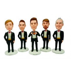 personalised groomsmen bobble head 5 items
