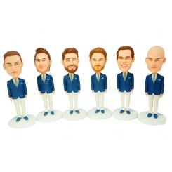 personalised groomsmen bobble head 6 items