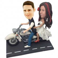 personalised motorcyclist bobblehead