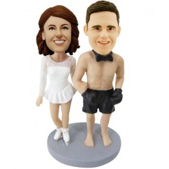 personalised naked boxing man couple bobblehead