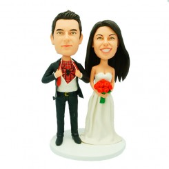 personalised spider man wedding cake topper