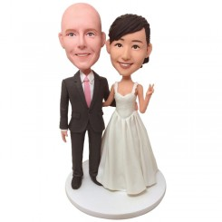 personalised wedding cake topper bobblehead