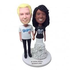 personalized baseball fans wedding bobblehead