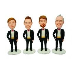personalized groomsmen bobblehead 4 items