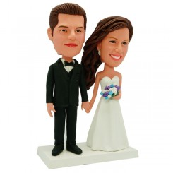 personalized wedding bobble head
